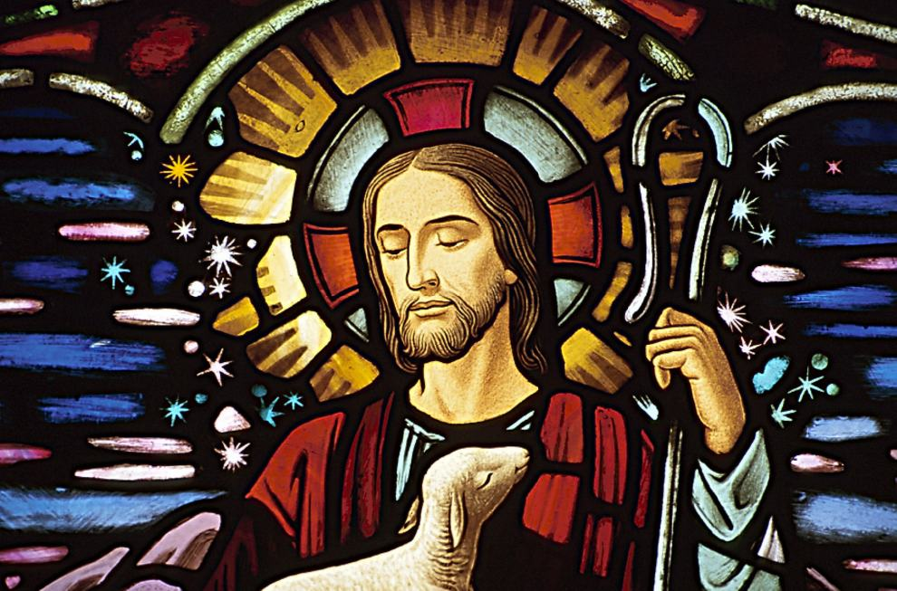 Stained-glass-window-depiction-of-Jesus