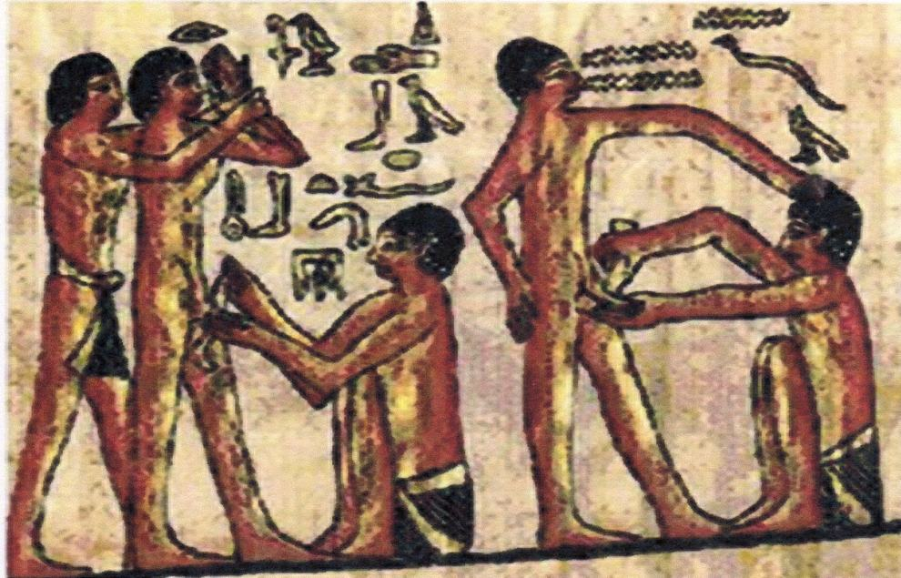 Egyptian_Doctor_healing_laborers_on_papyrus