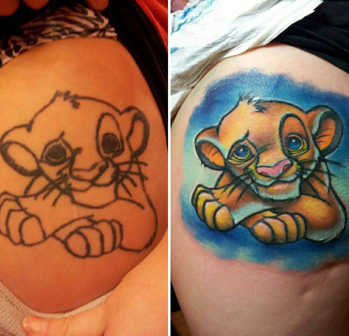 Simba Cub Fix Up Before & After